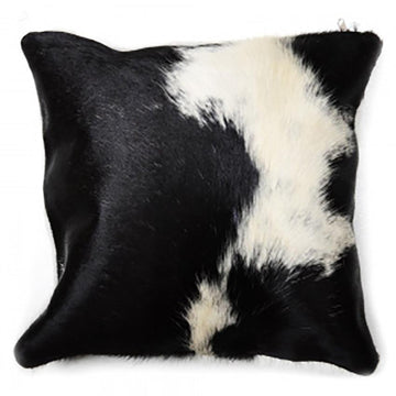 Cow hide pillow cushion