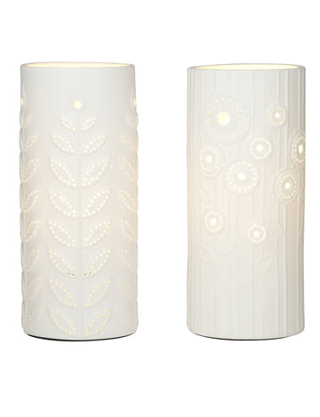 Flor Porcelain Table Lamp - 2 Asst