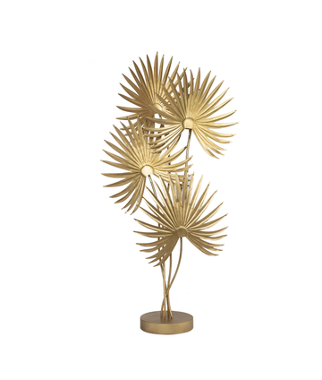 Golden Sabal - Palm Tree Floor Lamp