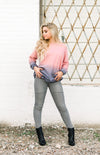 READY FOR ANYTHING MOTO JEAN LEGGINGS- GRAY