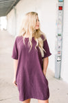 FALL INTO ME DRESS EGGPLANT