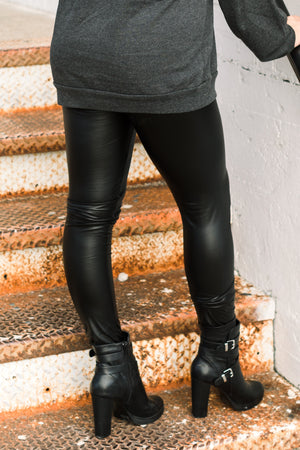 REBEL WITHOUT A CAUSE FAUX LEATHER LEGGINGS