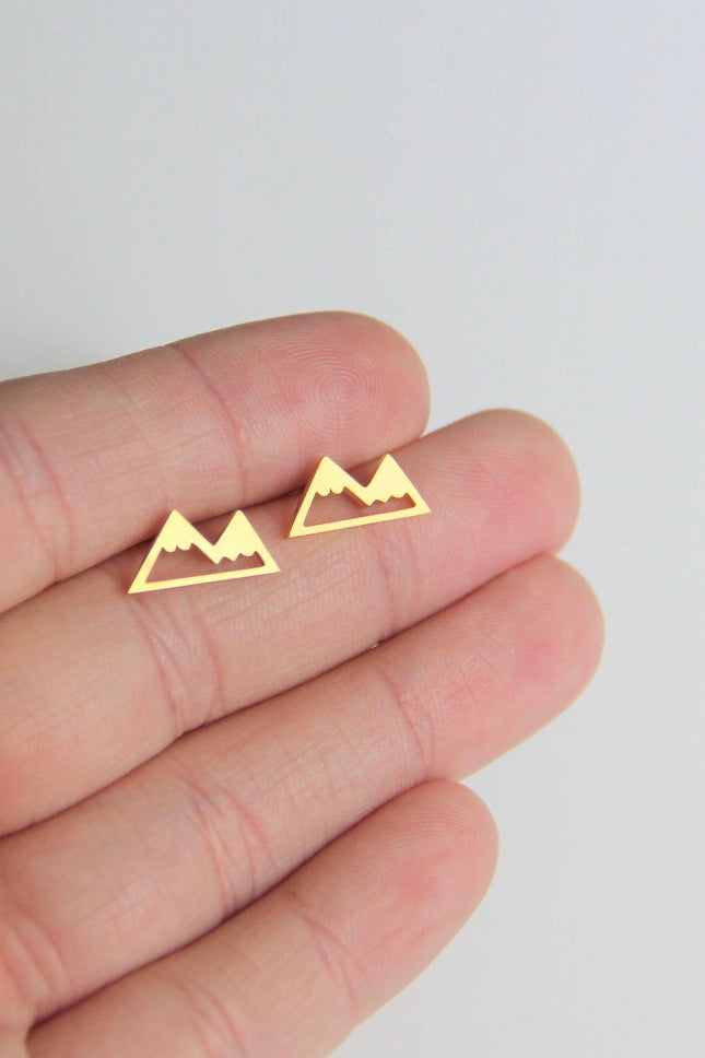 MOUNTAIN EARRINGS GOLD