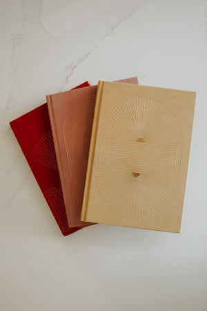 RADIANT RAYS BRIGHT TERRACOTTA NOTEBOOK