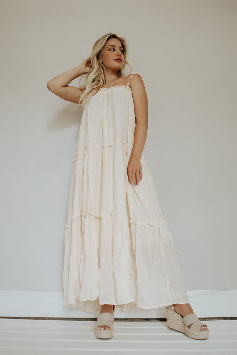 UNFORGETTABLE MAXI DRESS IVORY