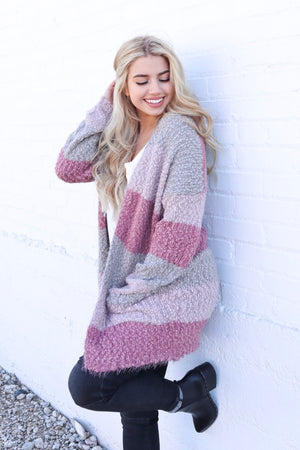WISHFUL THINKING CARDIGAN MAUVE