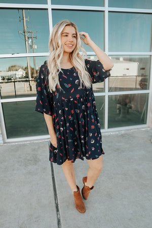 DREAM CATCHER DRESS NAVY