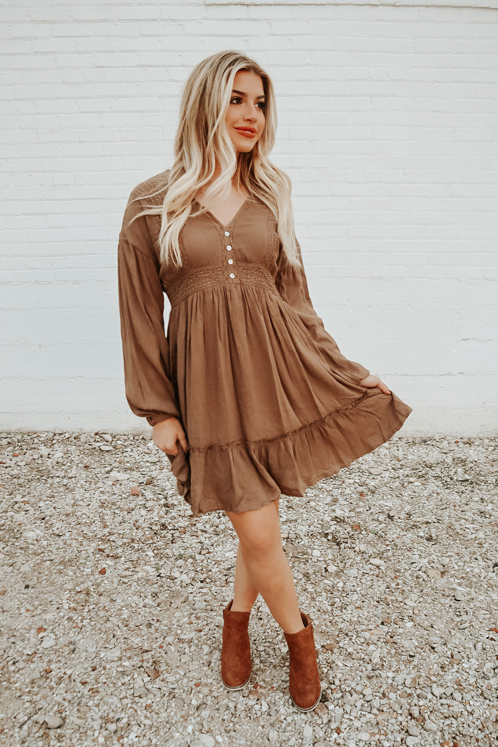 WILD HEART DRESS TAUPE