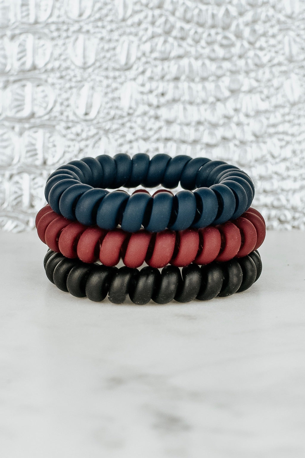IVY LEAGUE MATTE HAIR TIE SET