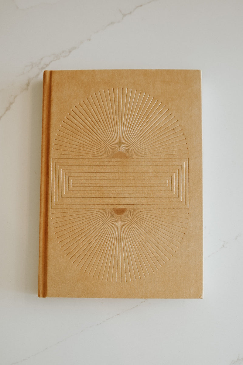 RADIANT SUN BLOCK OCHRE NOTEBOOK
