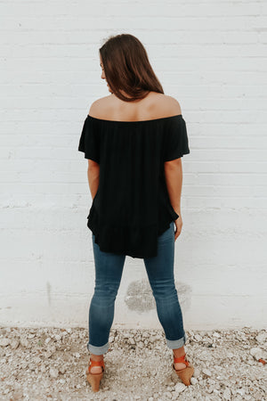 MORE THAN PERFECT TOP BLACK