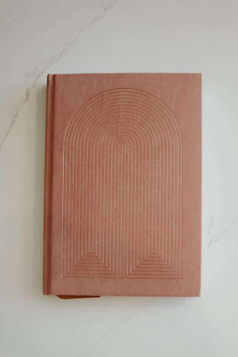RADIANT RAINBOW DUSTY PINK NOTEBOOK