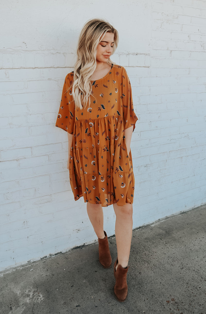 DREAM CATCHER DRESS CAMEL