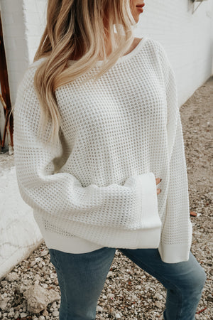 ALL IS WELL SWEATER WHITE
