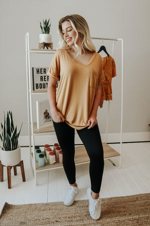 THE ESSENTIAL TEE GOLDEN BRONZE