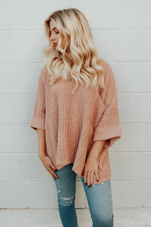 MEET ME BY THE FIRE SWEATER DUSTY ROSE