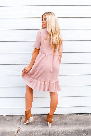 DREAMING OF YOU SHIFT DRESS MAUVE