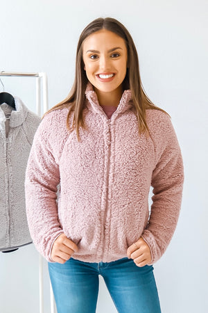 KEEPIN' IT COZY SHERPA MAUVE