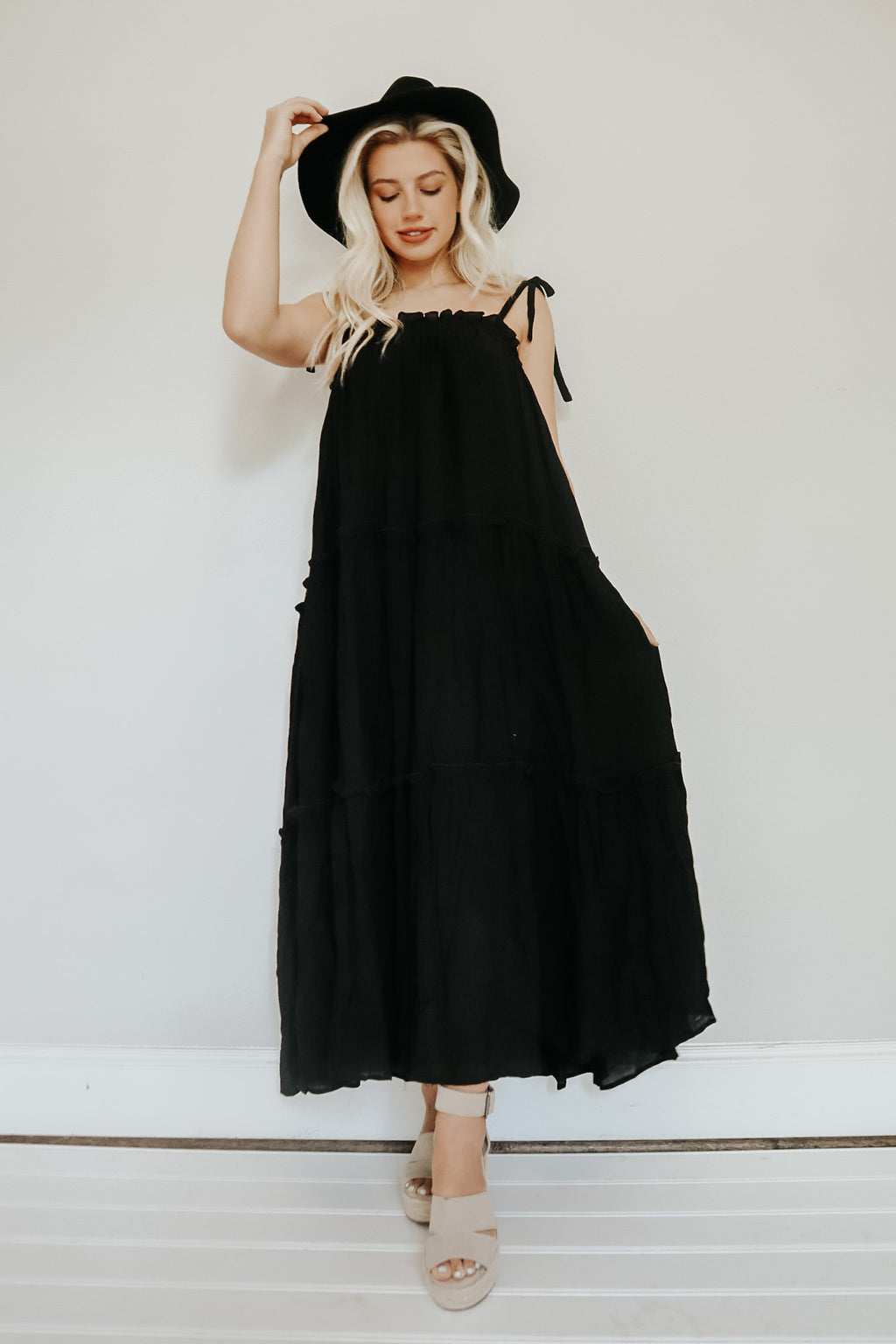 UNFORGETTABLE MAXI DRESS BLACK