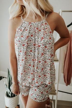 FLOWERS IN BLOOM ROMPER