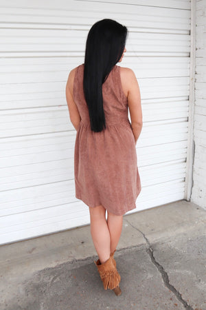 MAD ABOUT YOU CORDUROY DRESS