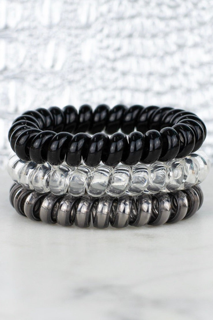 BLACK DIAMOND HAIR TIE SET