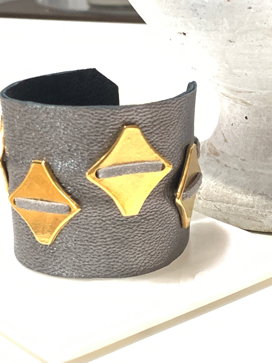 Minoan Leather Cuff