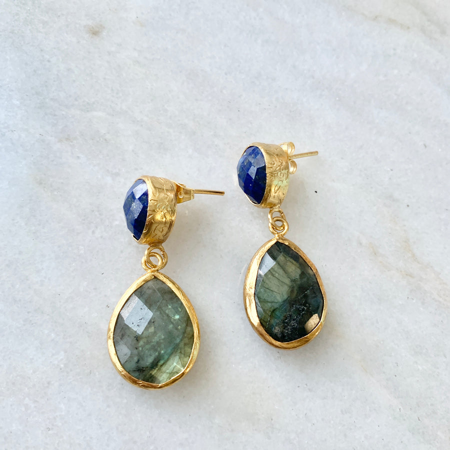 Two stones earring