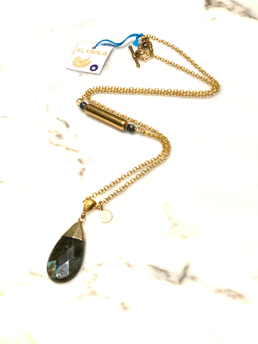 Labradorite Tear Necklace