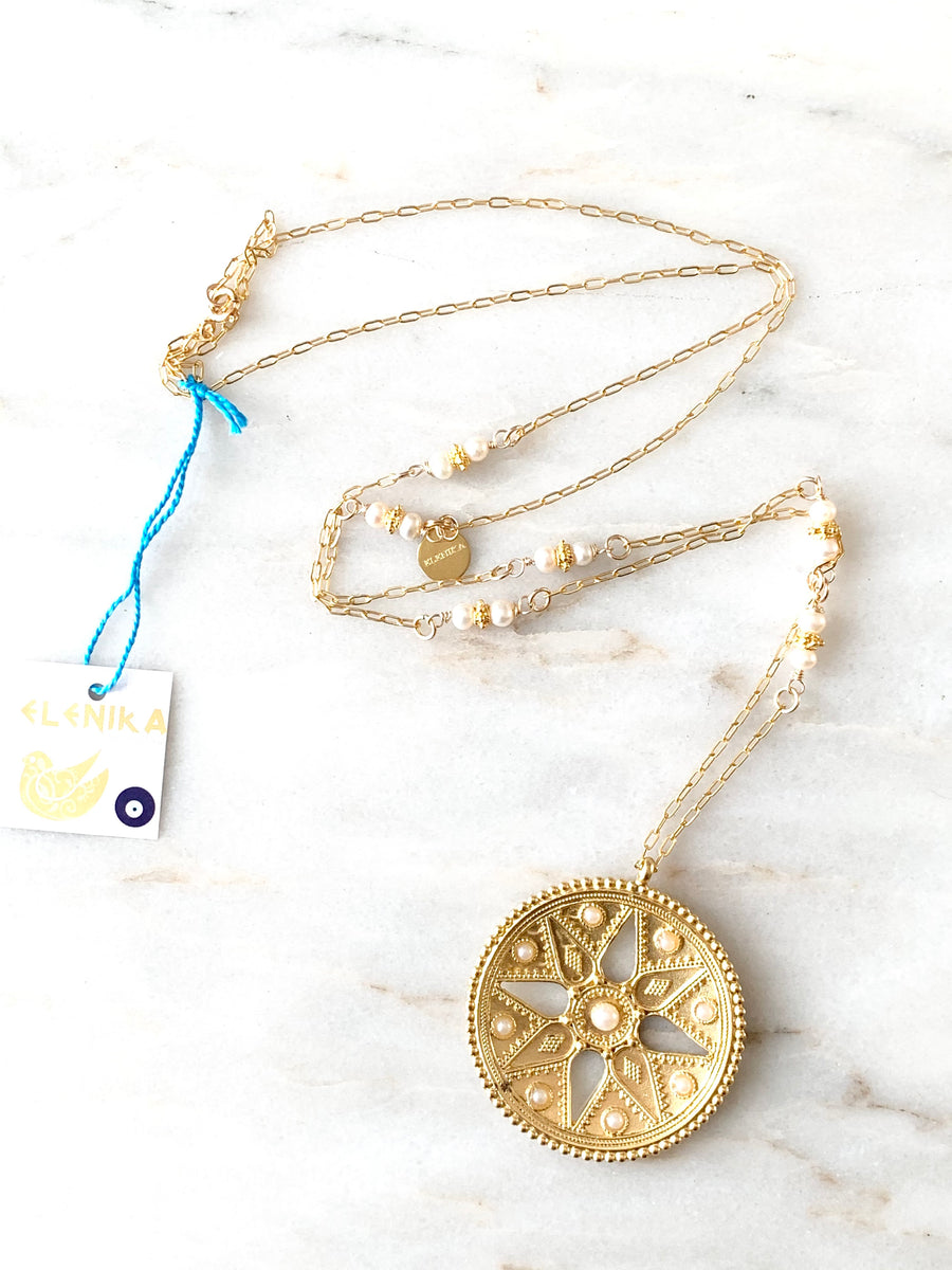 Persian Shield Necklace