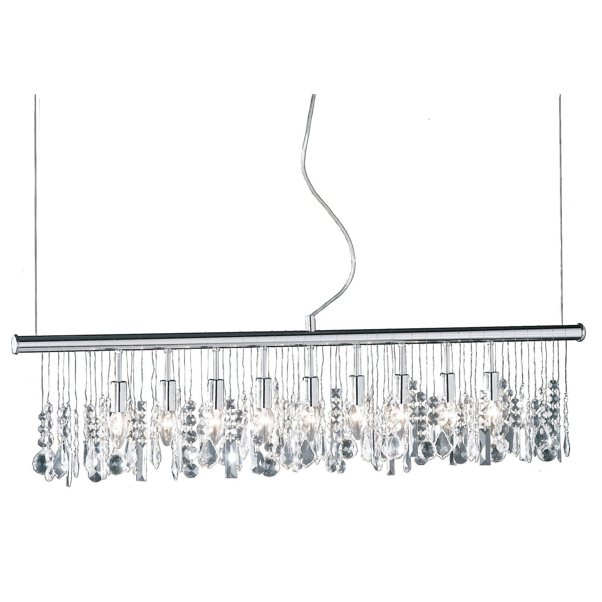 Action Crystal 9 Light Chrome Chandelier Boutique Electrical Wiring 725809010000