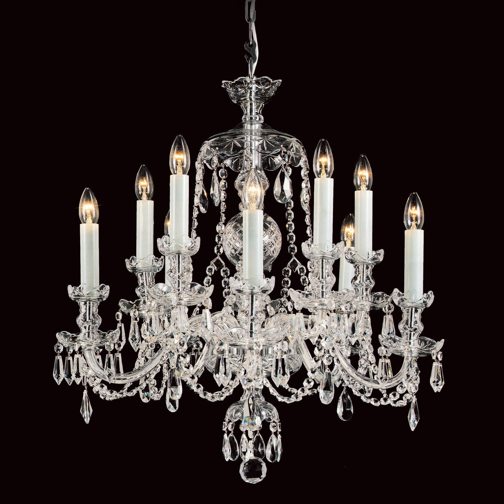 free shipping f0136 76ac6 Impex Frydek 10 Light Lead Crystal Georgian Chandelier