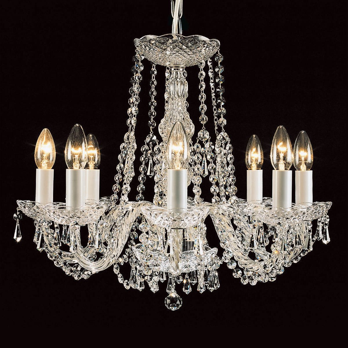 hot sale online a3715 96ff8 Impex Modra 8 Light Strass Crystal Georgian Chandelier