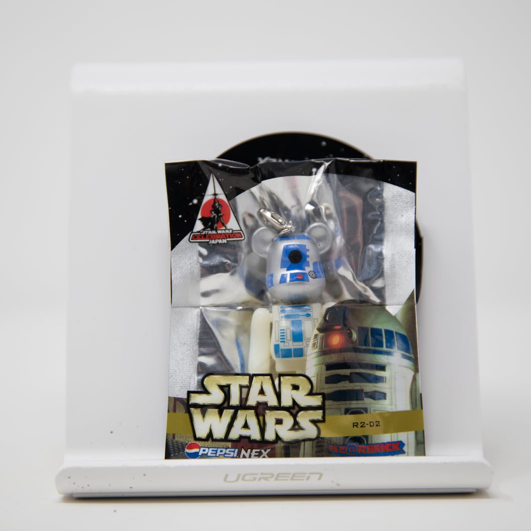 Medicom Toy BEARBRICK Star Wars R2D2 / Pepsi Nex 70% Keychain Figure (MINT)