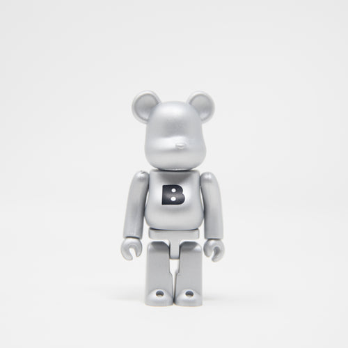 Medicom Toy BEARBRICK Silver Letter B - Basic Series 34 100% Figure (MINT)