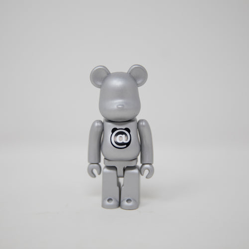 Medicom Toy BEARBRICK Silver Letter @ - Basic Series 34 100% Figure (MINT)