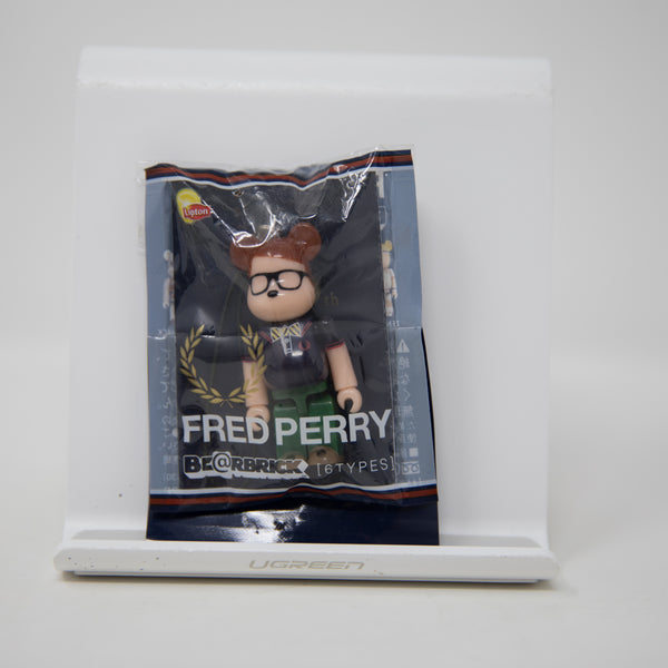 Medicom Toy BEARBRICK x  Lipton / Fred Perry [Preppy] 70% Keychain Figure (MINT)