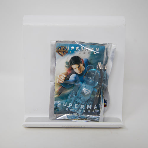 Medicom Toy BEARBRICK x Pepsi NEX Warner Bros / Superman: Returns [CLEAR VERSION] 70% Keychain Figure (MINT)