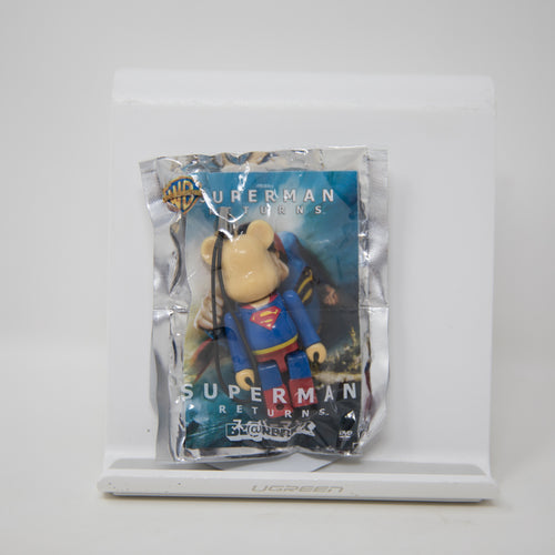 Medicom Toy BEARBRICK x Pepsi NEX Warner Bros / Superman: Returns 70% Keychain Figure (MINT)