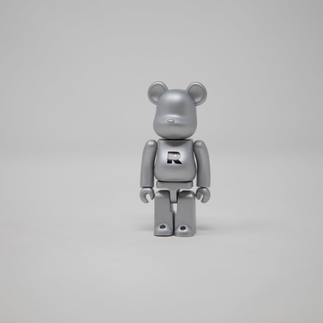 Medicom Toy BEARBRICK Silver Letter R - Basic Series 34 100% Figure (MINT)