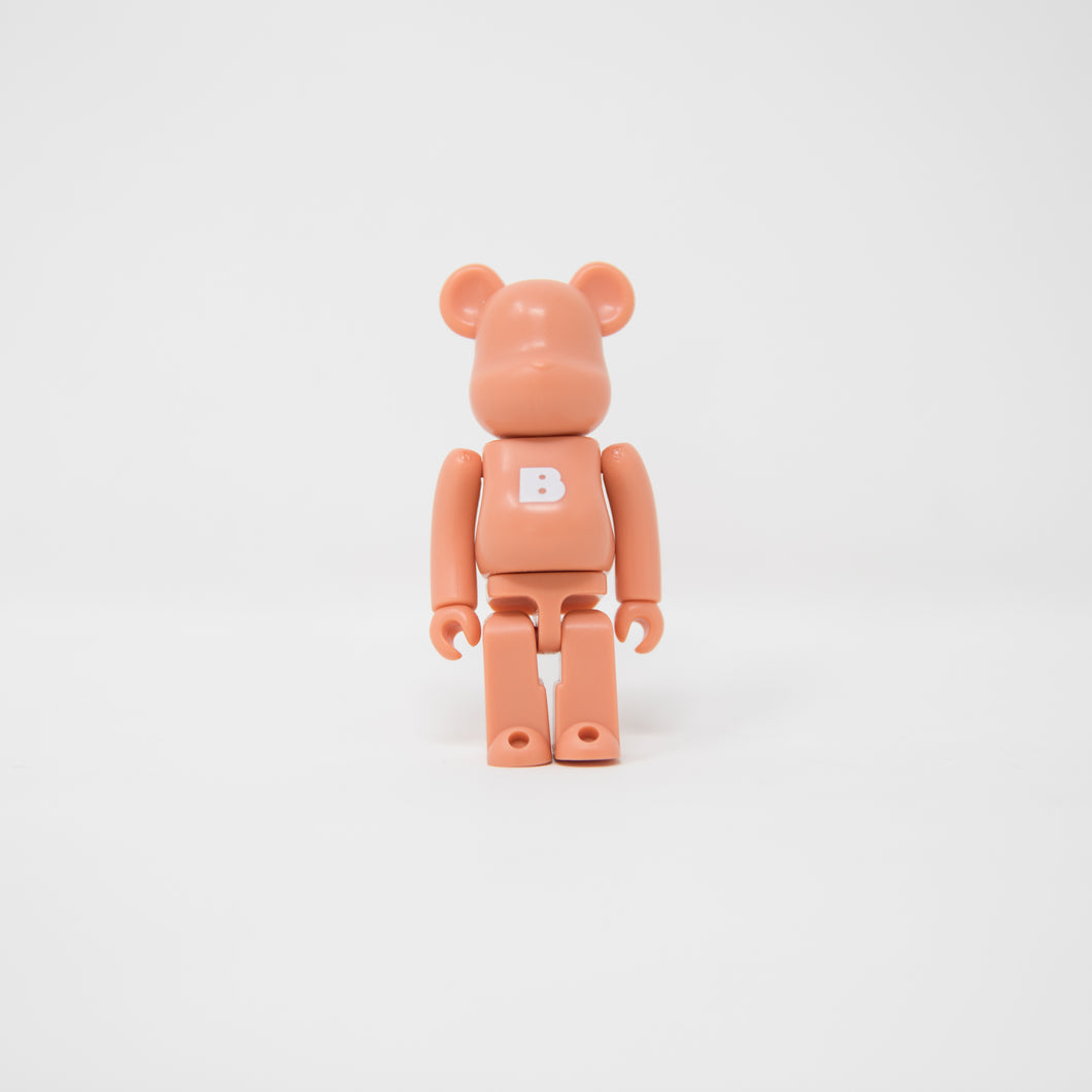 Medicom Toy BEARBRICK Coral Pink Letter b - Basic Series 19 100% Figure (MINT)