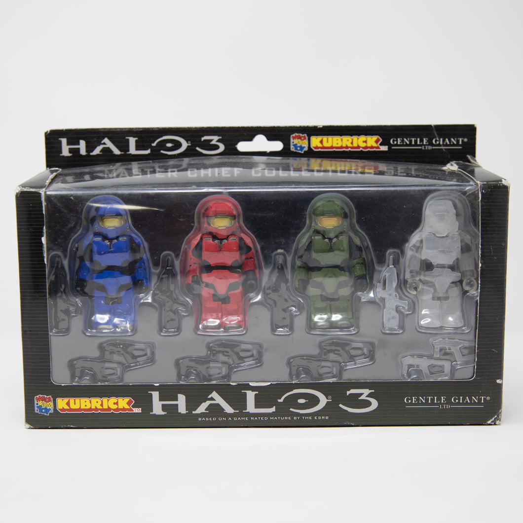 Medicom Toy Kubrick Halo 3 Master Chief Collectors Series 1 Set (NEW)