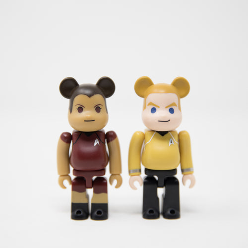 Medicom Toy BEARBRICK James T. Kirk & Uhura / Star Trek 100% Figure Set (MINT)