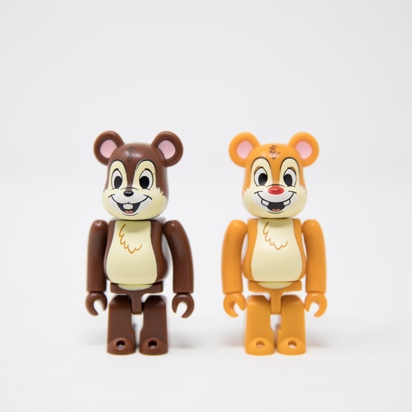 Medicom Toy BEARBRICK Chip 'n' Dale / Disney 100% Figure Set (MINT)