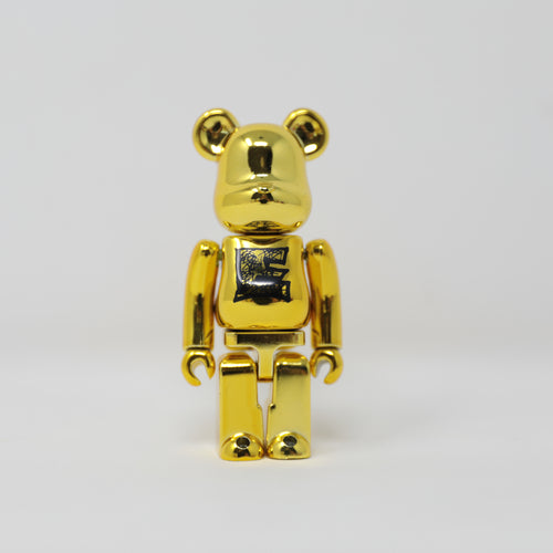 Medicom Toy BEARBRICK Gold Font E - Basic Series 22 100% Figure (MINT)