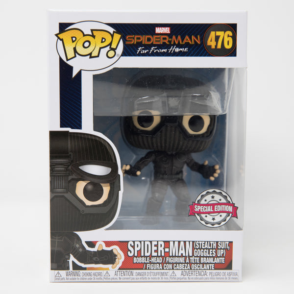 Funko Pop Marvel Spider-Man Far From Home #476 - Spider-Man (Stealth Suit, Goggles Up) - Special Edition (MINT)