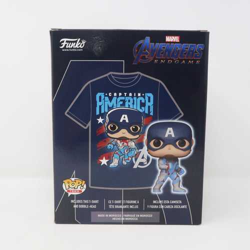 Funko POP! Marvel Avengers Endgame - Captain America - Tee & Figure - GITD / MCM Comic Con Limited Edition EXCLUSIVE (Multiple Sizes / NEW)