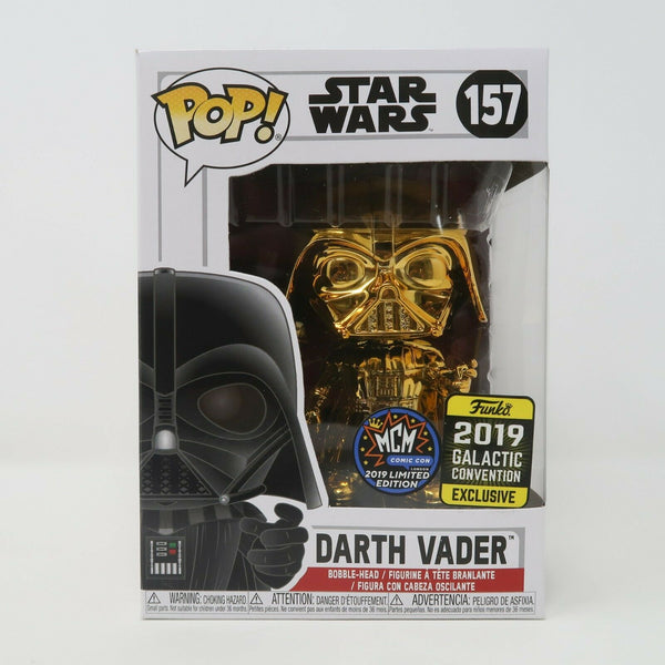 Funko POP! Star Wars #157 - Darth Vader Chrome Gold - MCM Comic Con Limited Edition EXCLUSIVE (NEW)