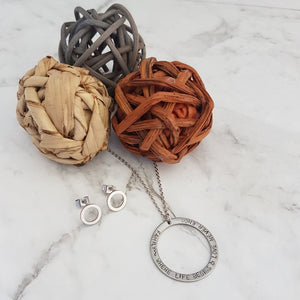 Circle of Life Necklace & Stud Set