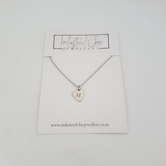 Heart Birthday Necklace